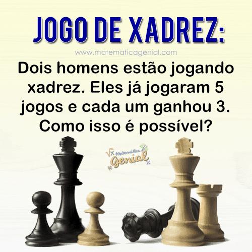 Jogo de Xadrez: Dois homens estão jogando xadrez. Eles já jogaram 5 jogos...