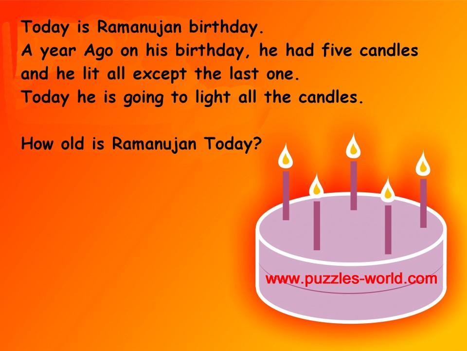 Ramanujan Birthday Puzzle