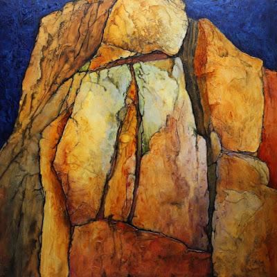 CAROL NELSON FINE ART BLOG: Geologic Abstract Painting,