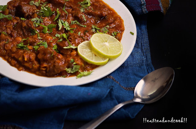 easy Chanay ki Daal Gosht recipe with step by step pictures