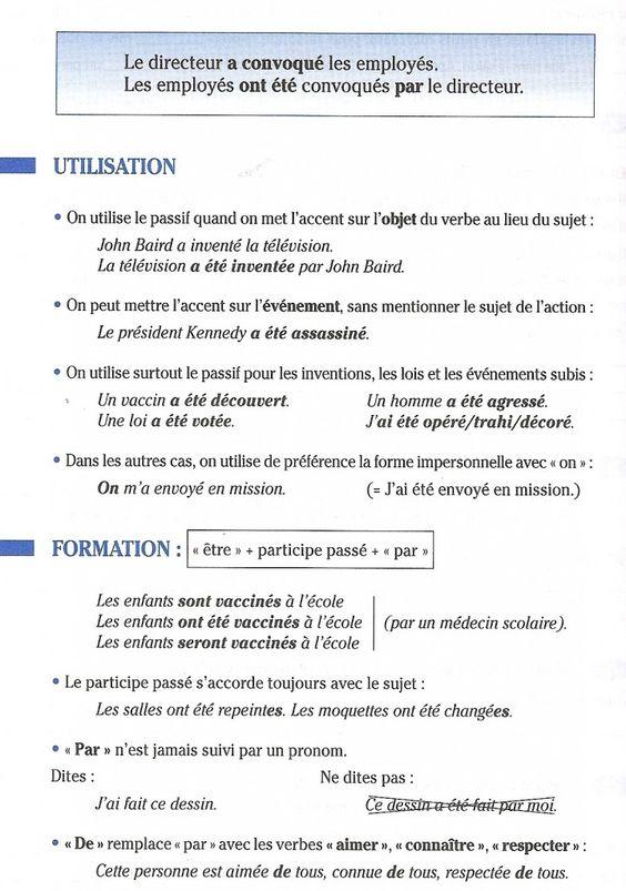 Strona bierna - gramatyka 10 - Francuski przy kawie