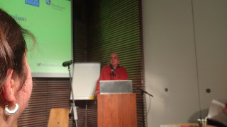 Peter Gingold introduces the Weatherfronts climate fiction book launch.