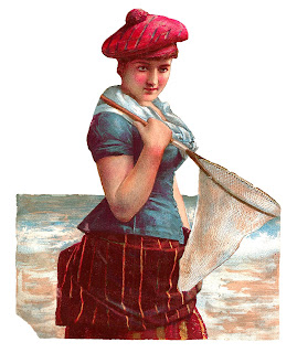 woman scottish antique clip art digital victorian image