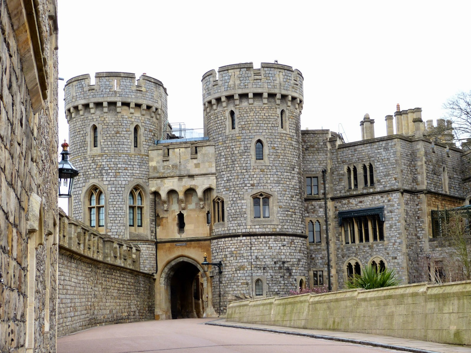 The Norman Gate leading to the Upper Ward, Windsor Castle
