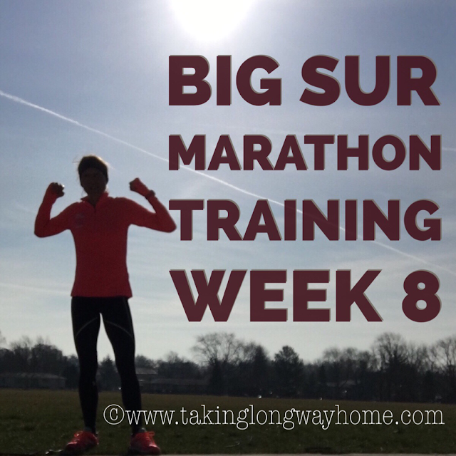 Big Sur Marathon Training Week 8