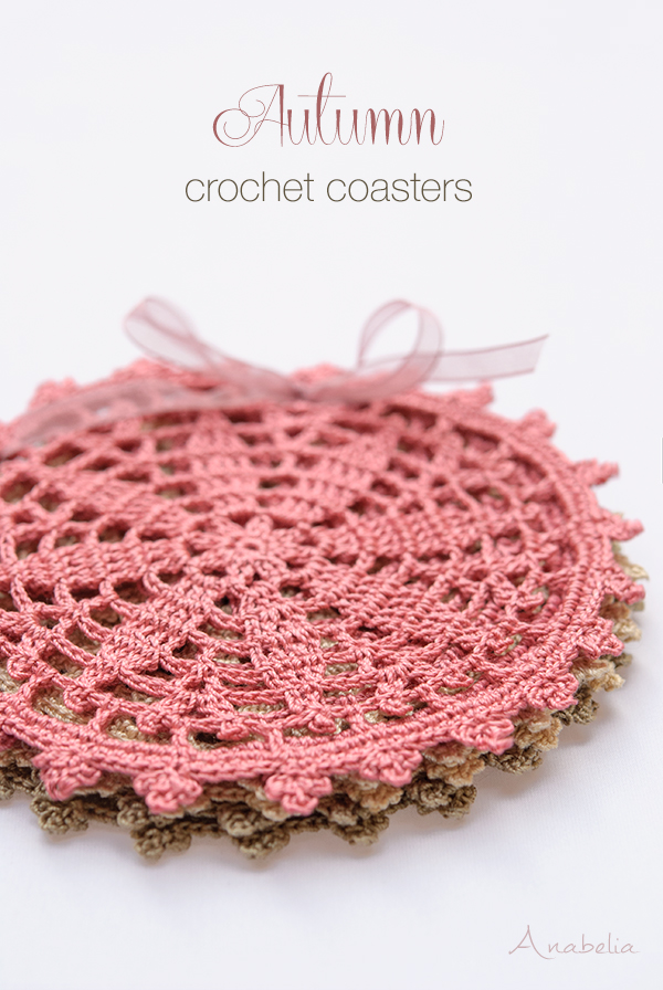 Autumn Coasters free pattern by Anabelia Craft Design