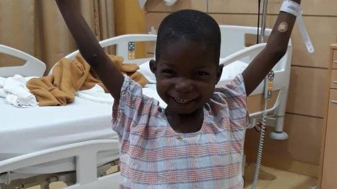 Nigerian toddler run over by Boko Haram walks again