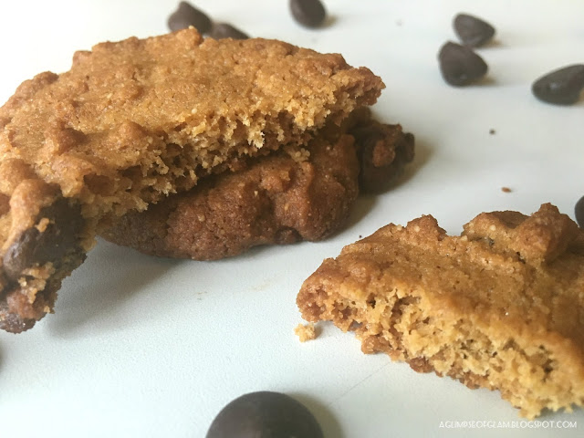 Flourless Peanut Butter Chocolate Chip Cookies - A Glimpse of Glam Andrea Tiffany