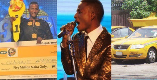 Why I'm Driving Taxi In Lagos – Olawale, Project Fame Winner
