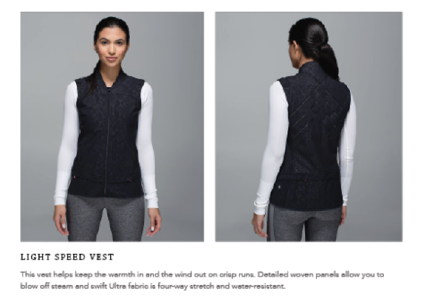 lululemon light speed vest