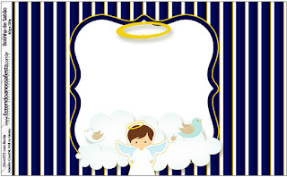 Brunette Angel Boy: First Communion Free Printable Candy Bar Labels.