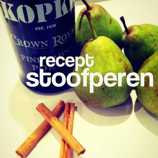 recept stoofperen maken
