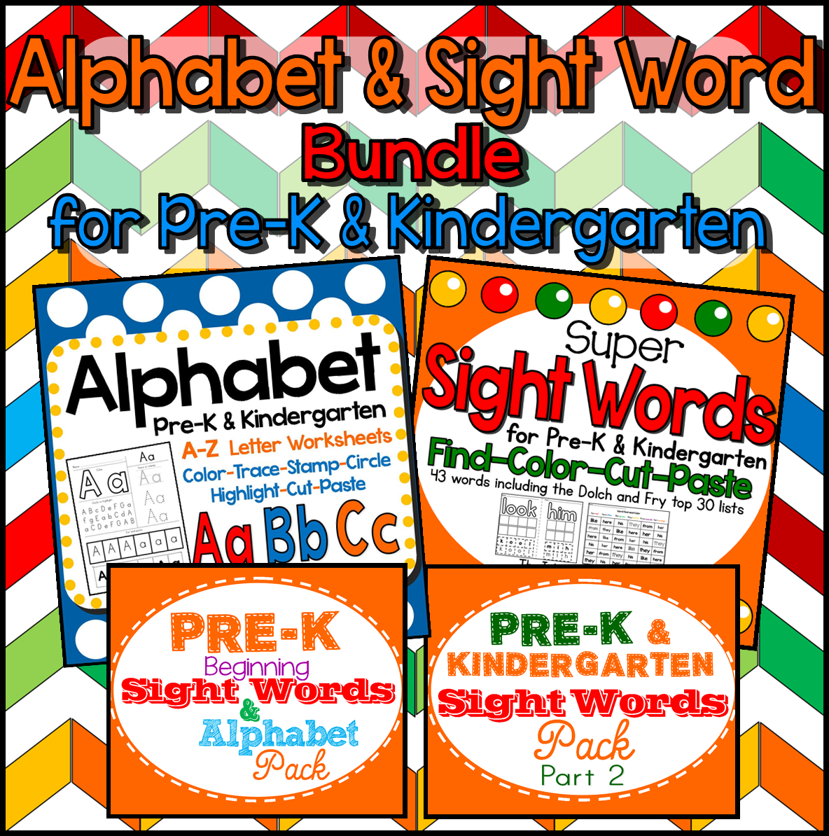The Best Of Teacher Entrepreneurs Iii Alphabet And Sight Words Bundle