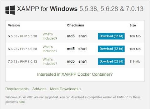 Pengertian Dan Cara Install Xampp