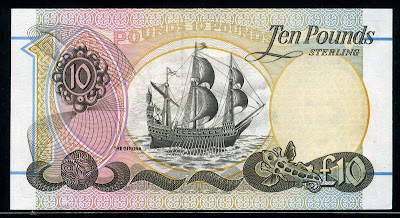 10 Pounds banknote First Trust Bank Sailing ship Girona