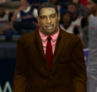 NBA 2K13 Coach Larry Drew Cyber Face Mod
