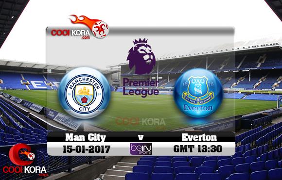 مشاهدة مباراة إيفرتون ومانشستر سيتي اليوم 15-1-2017 في الدوري الإنجليزي