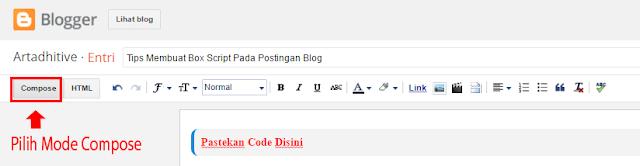 Blog Compose pastekan isi Script pada kotak