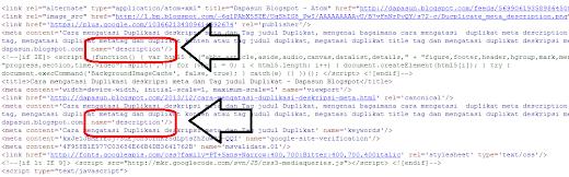 mengatasi Duplikasi deskripsi