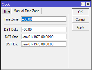 Manual Time Zone
