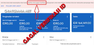 cara mengtasi gagal verifikasi ID