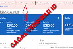 Cara Mengatasi Adsense Gagal Verif ID Peraturan Terbaru 2019