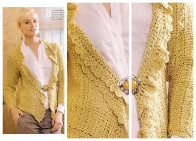 Chaqueta con volados de lana de merino