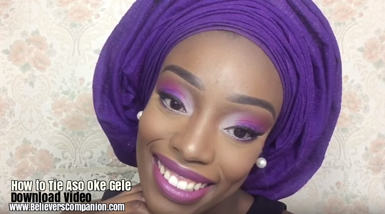 Download video how to tie a full aso oke gele how to close the gele is beautiful knowing how to tie your own gele is even awesome i have come across lovely gele styles but the finishing of most geles is the ccuart Gallery
