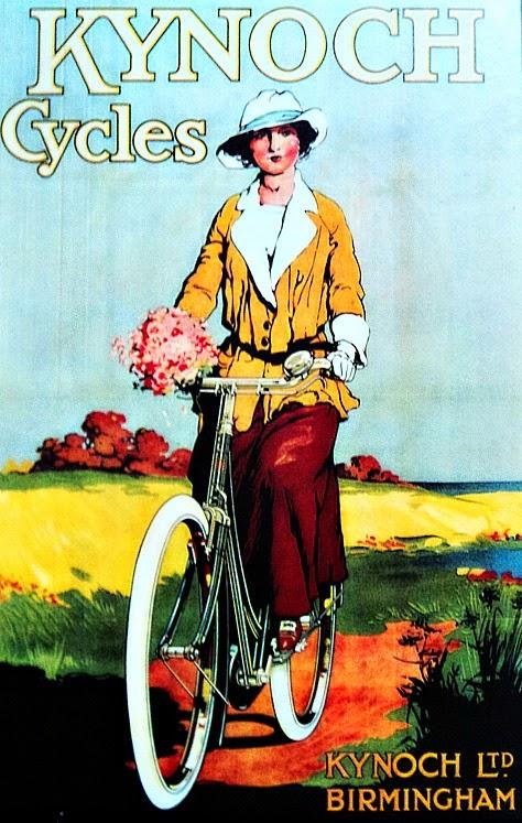 Poster de ciclista, no Museu da Bicicleta de Joinville