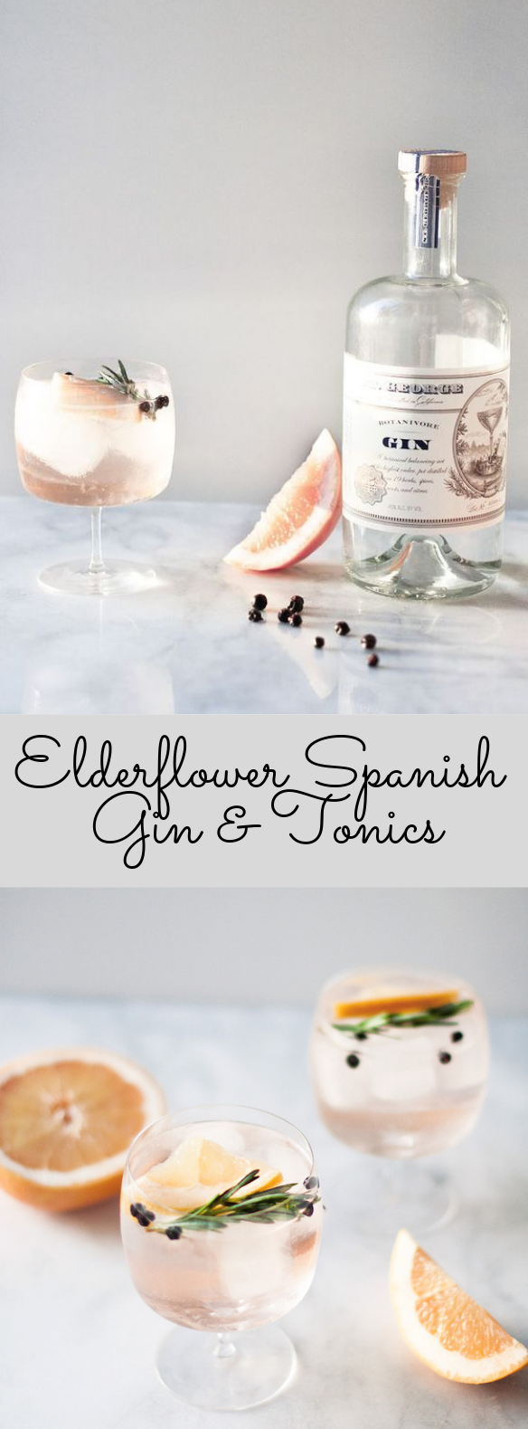 Elderflower Spanish Gin & Tonics #Cocktail #ValentinDay