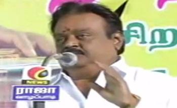 I Won't Forgive Anyone Who Betrays People   Vijayakanth's Election Campaign at Vazhapadi (Salem)