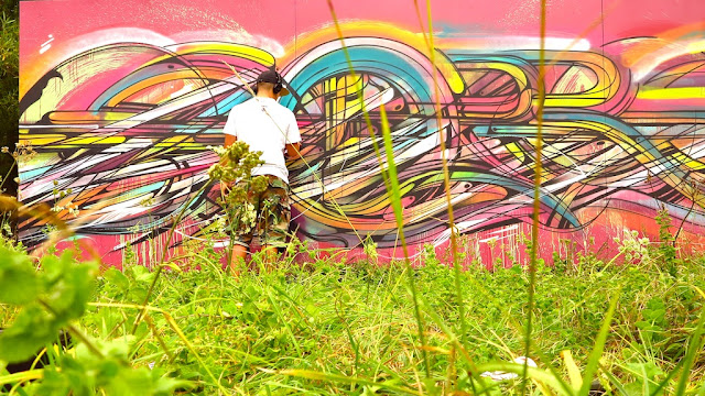 """""""Abstraction"""" By French Street Artist Hopare In Limours, France. 2"""
