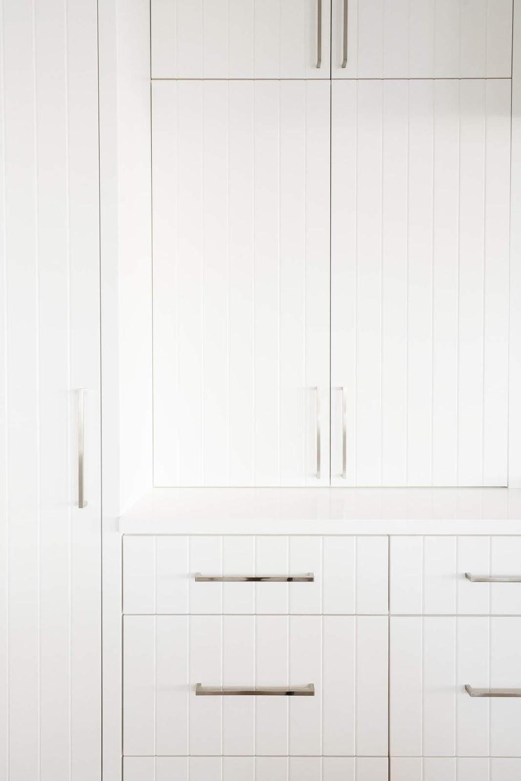 White Kitchen Cabinets, Textured Kitchen Cabinets