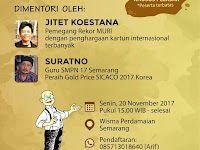 Workshop mengembangkan ide kartun bersama Gold Pencil Indonesia