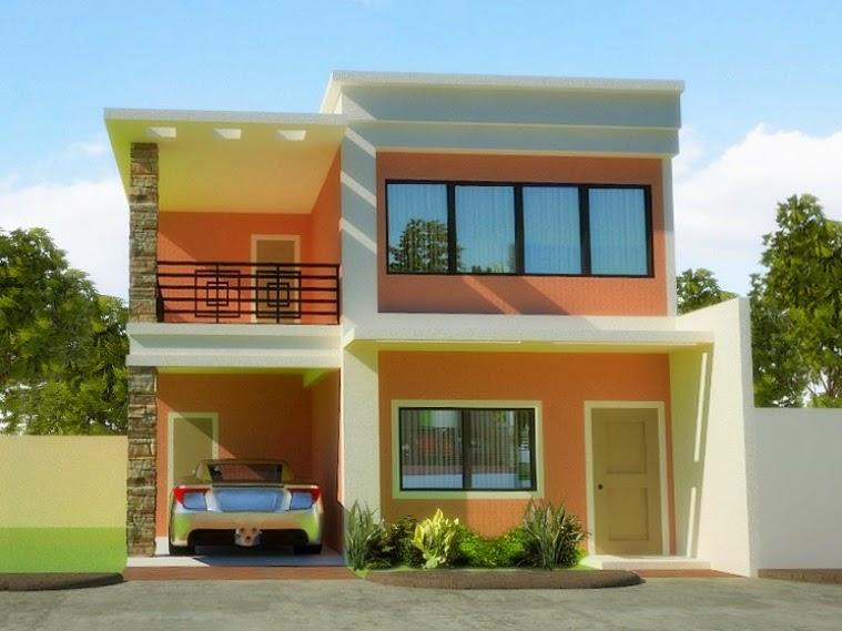 43 contoh cat rumah minimalis warna orange yang nampak