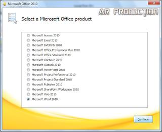 Instalasi Microsoft Office 2010 Tahap ketiga
