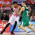Ολυμπιακός - Ζαλγκίρις 56-54 (30')