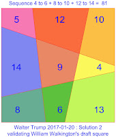 order 3 linear area magic squre verified 2