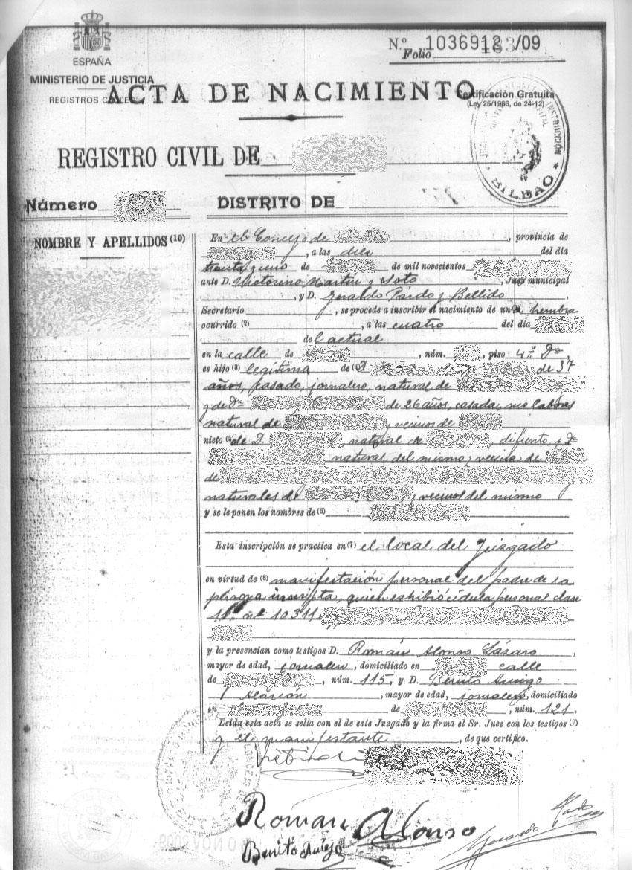 Formato De Acta De Matrimonio De Registro Civil Para Actas De ...