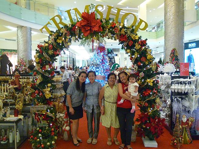 Adornos de Navidad en Jakarta