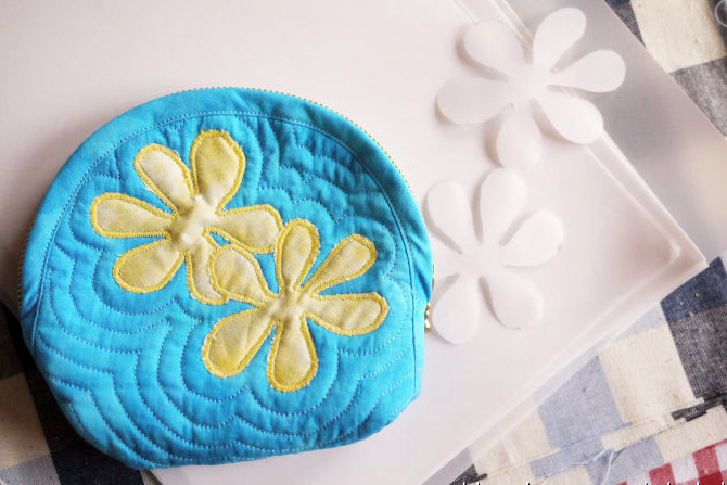 Нawaiian Quilting Cosmetic Bag. Photo Sewing Tutorial. Step by step DIY.
