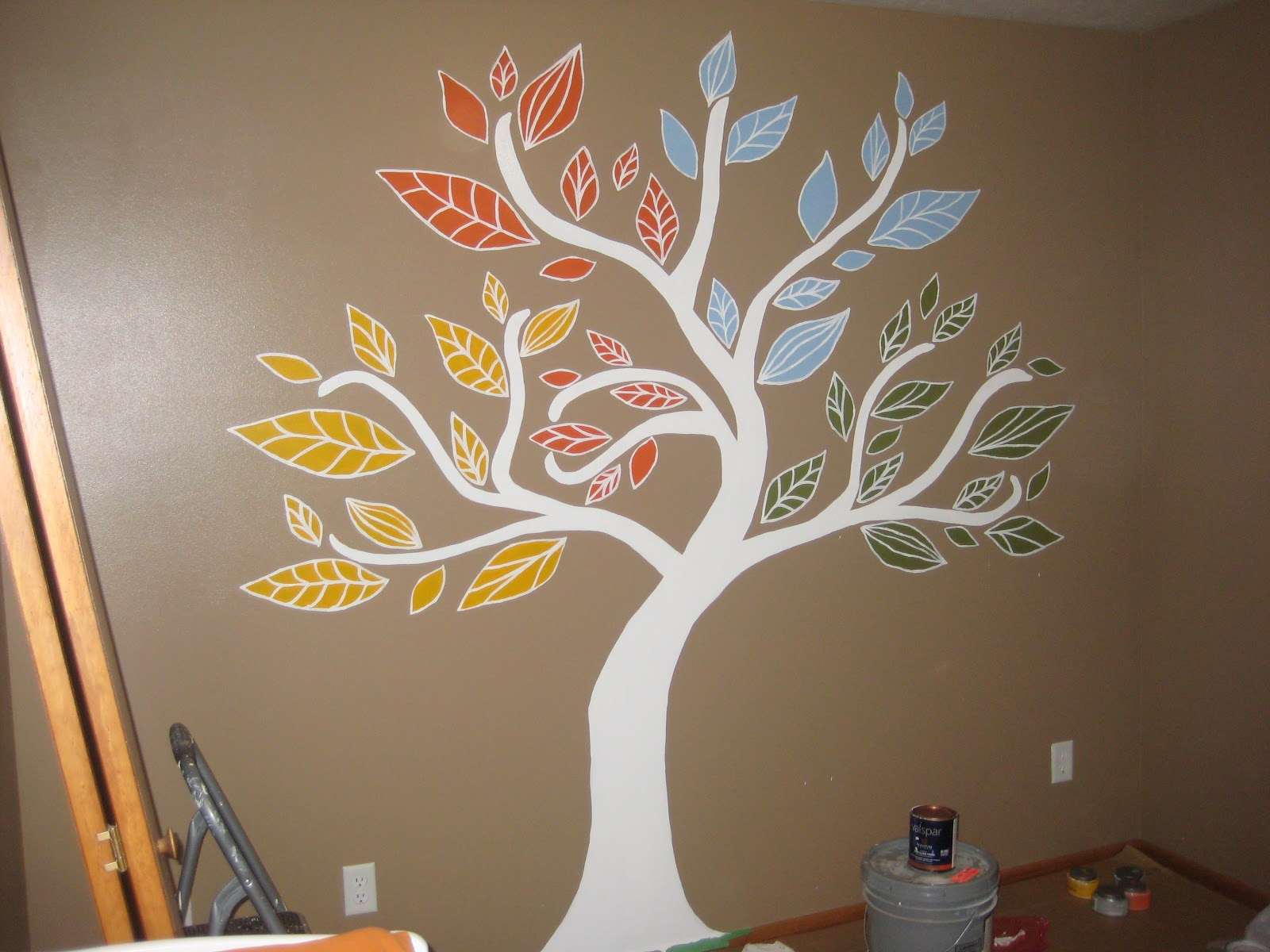 Cobo Four Seasons Tree Mural