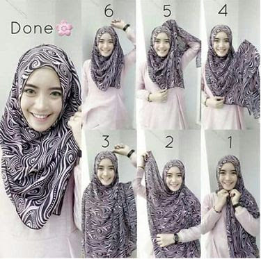 Tutorial Hijab Simple Terpopuler