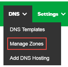 How can I add an A record in DNS in my site