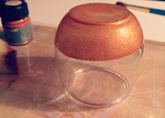 copper glass paint drying