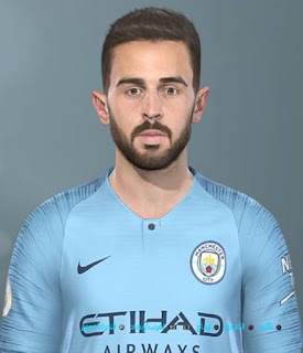 PES 2019 Faces Bernardo Silva by Shenawy