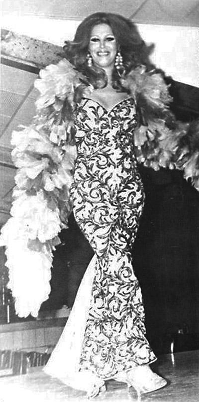 Gayle Channing, professional femulator, circa 1964