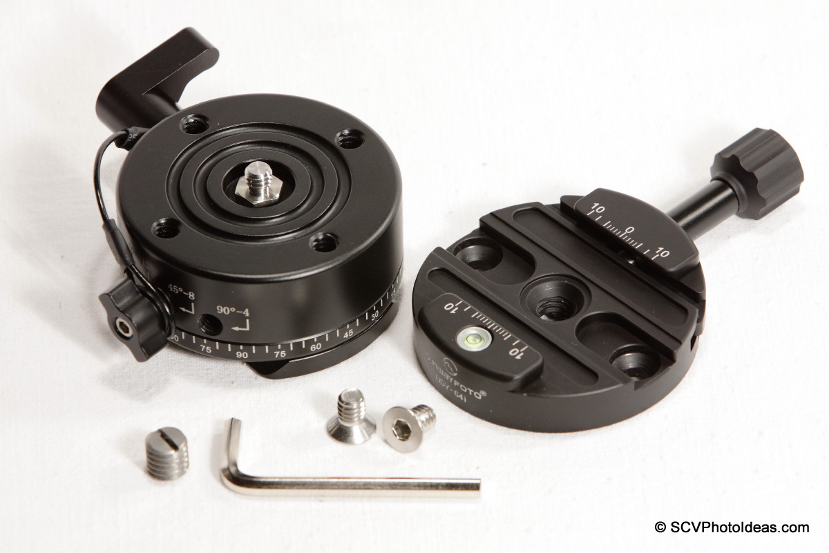 Sunwayfoto DDY-64iL Discal QR clamp w/ DDP-64SX Indexing rotator + screws + hex key