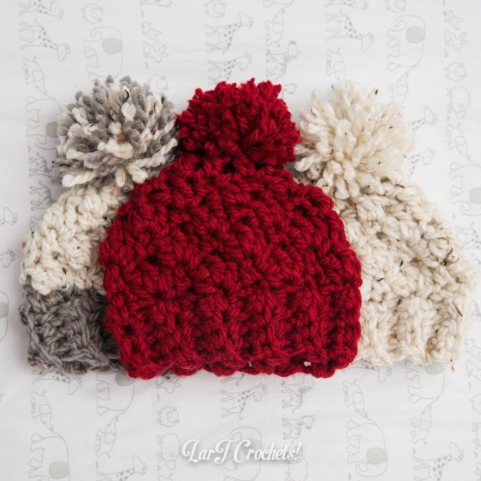 Larj Crochets My New Favorite Thing Chunky Newborn Hats
