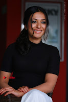 Actress Catherine Tresa Latest Stills in Black Top and White Pants  0012.JPG
